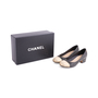 Authentic Second Hand Chanel Gold Cap Toe Pumps (PSS-643-00005) - Thumbnail 6