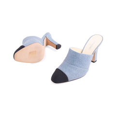 Chanel cap toe denim mules 2?1555296659