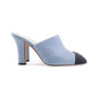 Authentic Second Hand Chanel Cap Toe Denim Mules (PSS-643-00011) - Thumbnail 4
