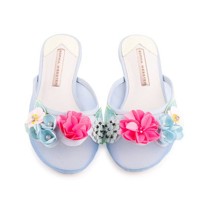 Authentic Second Hand Sophia Webster Lilico Sequin Slippers (PSS-643-00001)