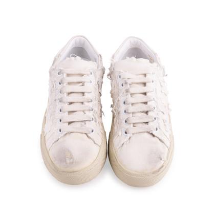 Authentic Second Hand Saint Laurent Star Appliqué Sneakers (PSS-643-00006)