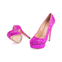 Authentic Second Hand Charlotte Olympia Priscilla Glitter Platform Pumps (PSS-643-00012) - Thumbnail 4