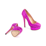 Authentic Second Hand Charlotte Olympia Priscilla Glitter Platform Pumps (PSS-643-00012) - Thumbnail 5