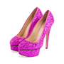 Authentic Second Hand Charlotte Olympia Priscilla Glitter Platform Pumps (PSS-643-00012) - Thumbnail 2