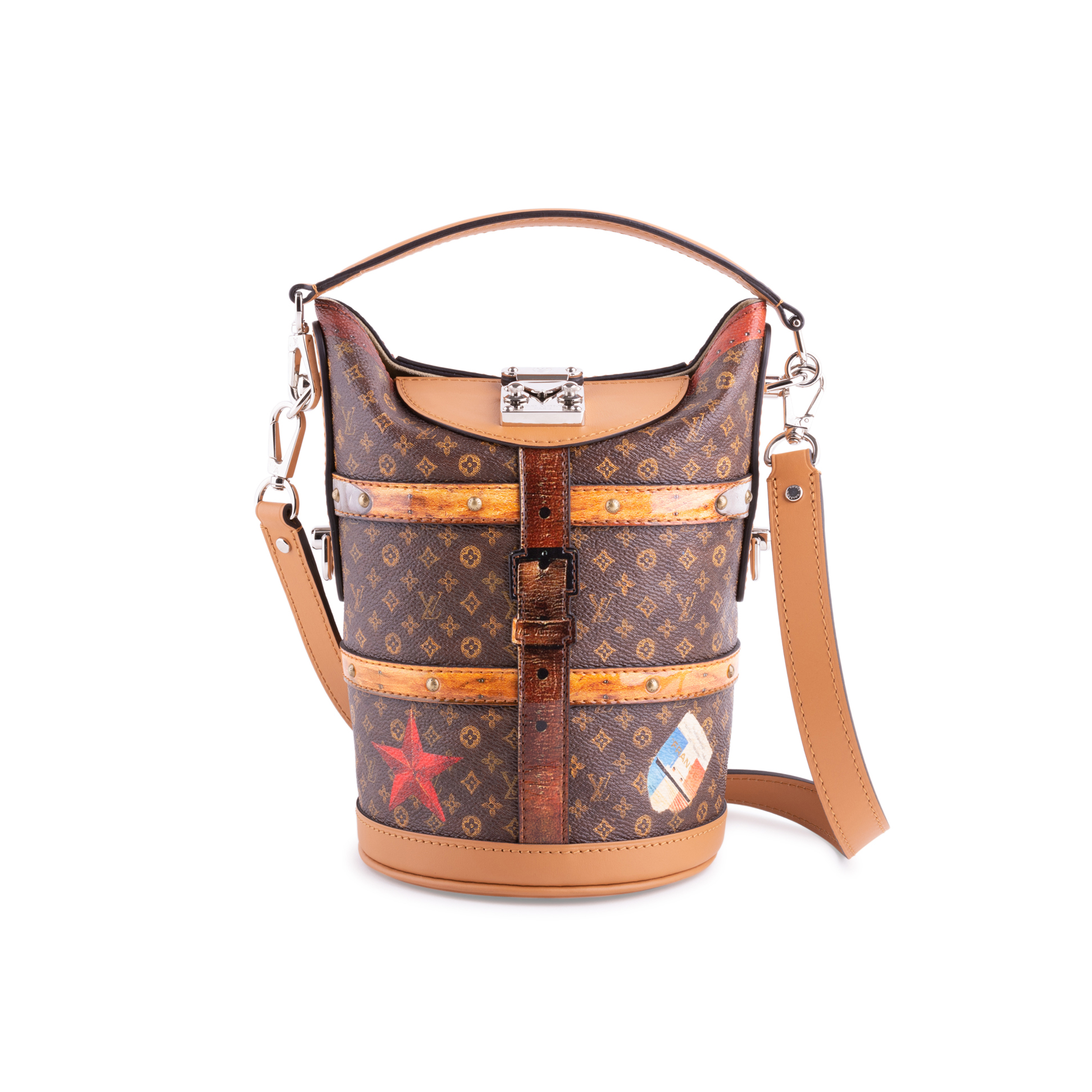 9fe1bbe03 Authentic Second Hand Louis Vuitton Duffle Time Trunk Handbag  (PSS-200-01675) | THE FIFTH COLLECTION