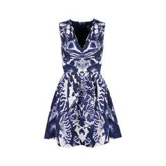 Abstract Print Skater Dress