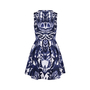 Authentic Second Hand McQ Alexander Mcqueen Abstract Print Skater Dress (PSS-486-00053) - Thumbnail 1