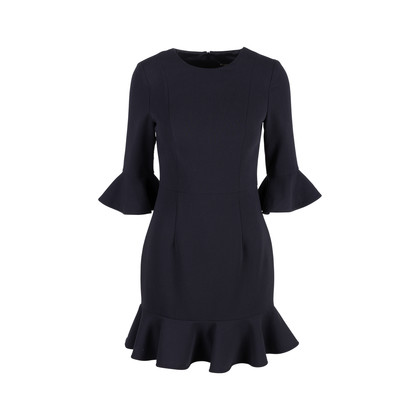 Authentic Second Hand Black Halo Bell-sleeve Flounce Dress (PSS-486-00054)