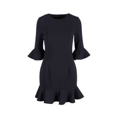 Bell-sleeve Flounce Dress
