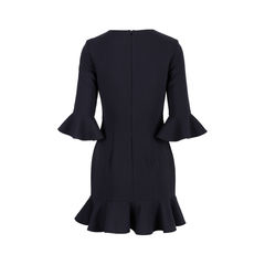 Black halo bell sleeve flounce dress 2?1555395598