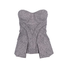 Tweed Bustier Top