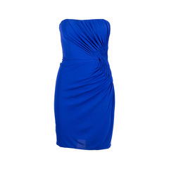Side Pleat Strapless Dress