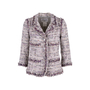Authentic Second Hand Chanel Multicoloured Fringe-Trimmed Tweed Jacket (PSS-575-00047) - Thumbnail 0