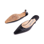 Authentic Second Hand Manolo Blahnik Pointed Leather Mules (PSS-642-00001) - Thumbnail 1