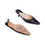 Authentic Second Hand Manolo Blahnik Pointed Leather Mules (PSS-642-00001) - Thumbnail 2