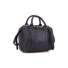 Alexander wang rockie pebbled leather satchel black 2?1556176060
