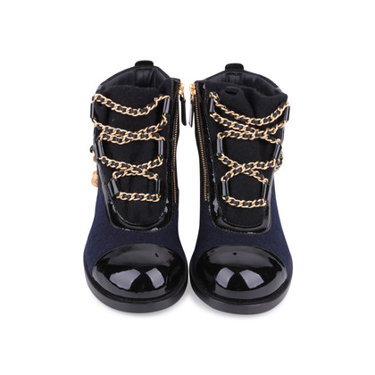 Authentic Second Hand Chanel Paris Salzburg Charm Ankle Boots (PSS-200-01686)