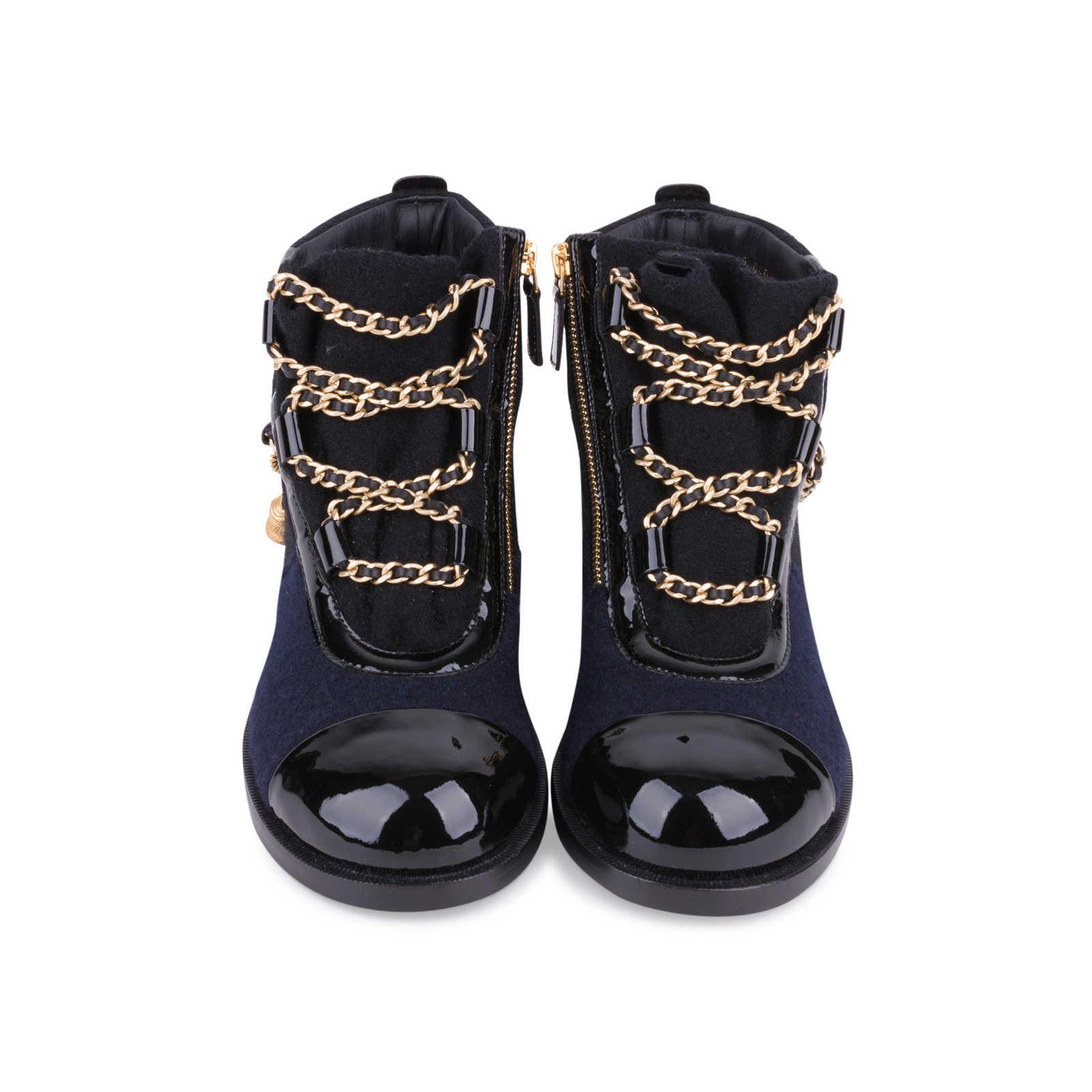 7f601db17 Authentic Second Hand Chanel Paris Salzburg Charm Ankle Boots  (PSS-200-01686) ...