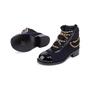 Authentic Second Hand Chanel Paris Salzburg Charm Ankle Boots (PSS-200-01686) - Thumbnail 1