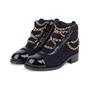 Authentic Second Hand Chanel Paris Salzburg Charm Ankle Boots (PSS-200-01686) - Thumbnail 3