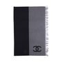Authentic Second Hand Chanel Wool and Cashmere Blend Logo Throw (PSS-200-01671) - Thumbnail 0