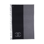Authentic Second Hand Chanel Wool and Cashmere Blend Logo Throw (PSS-200-01671) - Thumbnail 2
