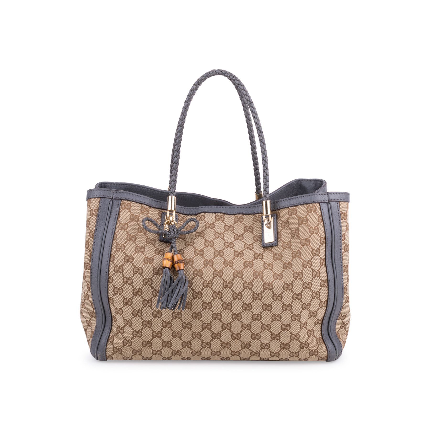 5c07cd4da Authentic Second Hand Gucci Bella Canvas Tote (PSS-639-00002) - THE FIFTH  COLLECTION