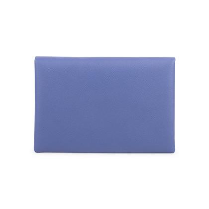 Authentic Second Hand Hermès Bleu De Malte Calvi Pouch (PSS-653-00001)