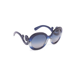 Prada baroque round sunglasses blue 2?1556939396