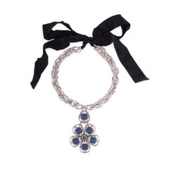 Lanvin denim flower necklace 2?1556939560