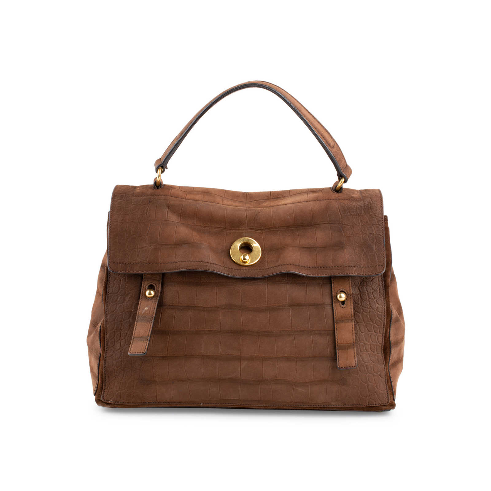 d4bbb4ca4b6 Authentic Second Hand Yves Saint Laurent Embossed Muse 2 Bag (PSS-459-00032  ...