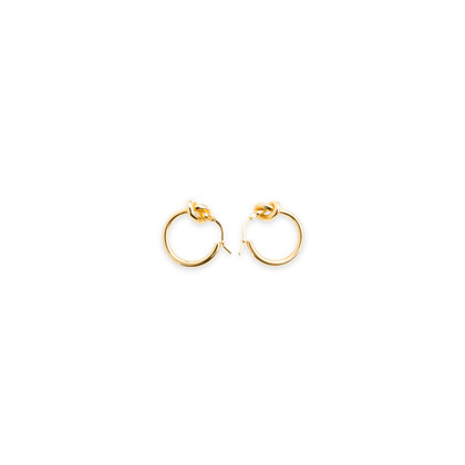 Authentic Second Hand Céline Knot Small Hoop Earrings (PSS-645-00002)