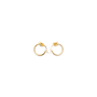 Authentic Second Hand Céline Knot Small Hoop Earrings (PSS-645-00002) - Thumbnail 0