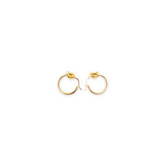 Knot Small Hoop Earrings