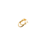 Authentic Second Hand Céline Knot Small Hoop Earrings (PSS-645-00002) - Thumbnail 2