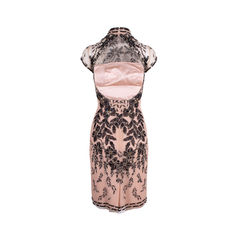 Biyan beaded cheongsam dress neutral 2?1557377287