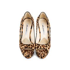 Leopard Print Peep Toe Pumps
