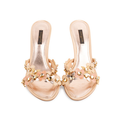 Authentic Second Hand Louis Vuitton Satin Embellished Slip Ons (PSS-097-00147)