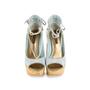 Authentic Second Hand Louis Vuitton Monogram Denim Wedge (PSS-097-00153) - Thumbnail 0