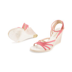 Chanel pink strappy wedges 2?1557395545