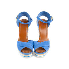 Two-tone Espadrille Wedge Sandals