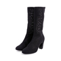 Authentic Second Hand Chanel Mesh Mid Calf Booties (PSS-200-00278) - Thumbnail 2