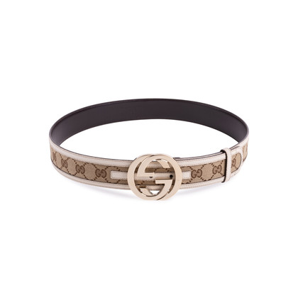 Authentic Second Hand Gucci Monogram Leather Belt (PSS-647-00006)