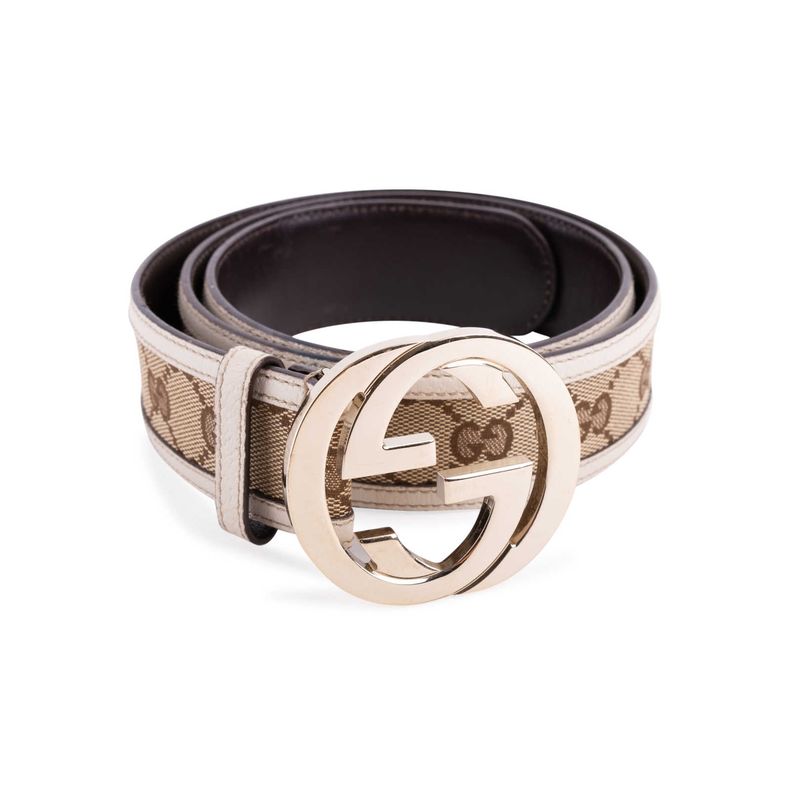 8b5365694 ... Authentic Second Hand Gucci Monogram Leather Belt (PSS-647-00006) -  Thumbnail ...