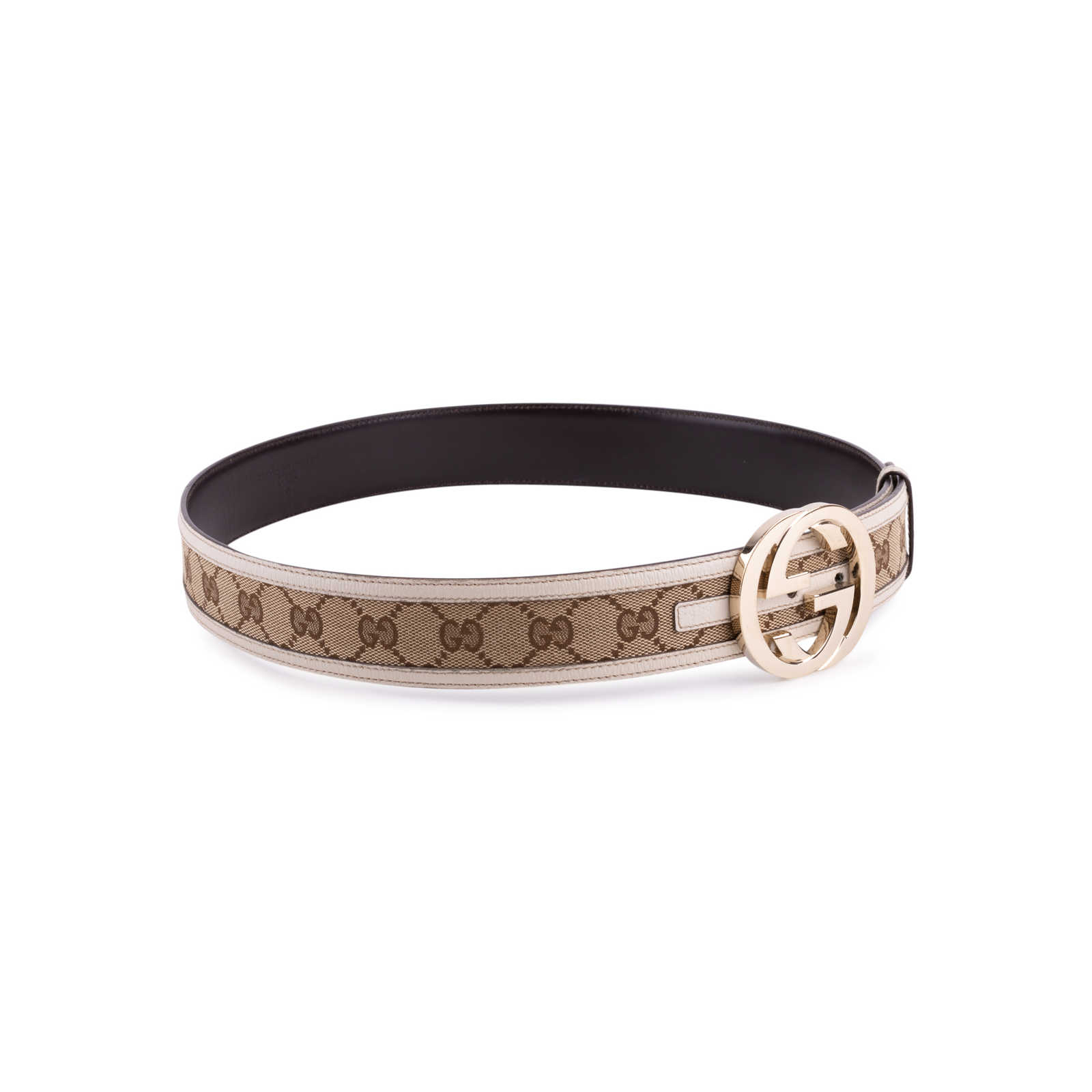 3e74cf224 ... Authentic Second Hand Gucci Monogram Leather Belt (PSS-647-00006) -  Thumbnail ...