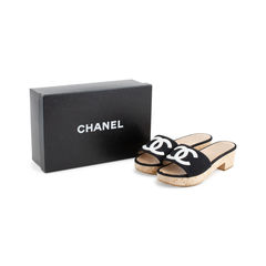 Chanel logo wood slides 7?1557981498