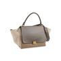 Authentic Second Hand Céline Leather and Canvas Trapeze Bag (PSS-648-00011) - Thumbnail 3