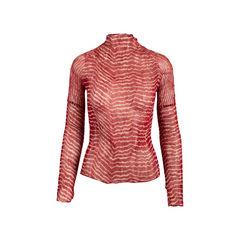 Striped Crinkled Blouse