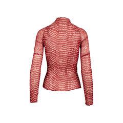 Issey miyake striped crinkled blouse 2?1558111781