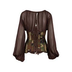 Jean paul gaultier camouflage bustier blouse 2?1558111878